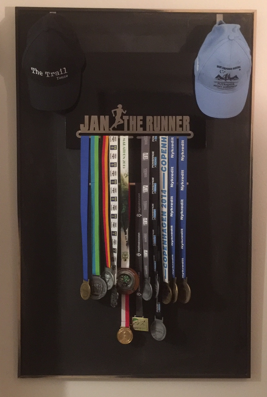 Medal achived in Half and Full Marathons